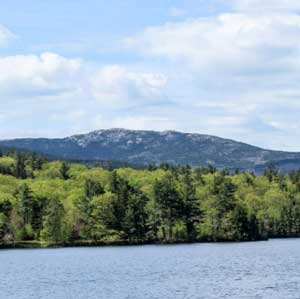 Beautiful Dublin Lake with Mount Monadnock in the background.