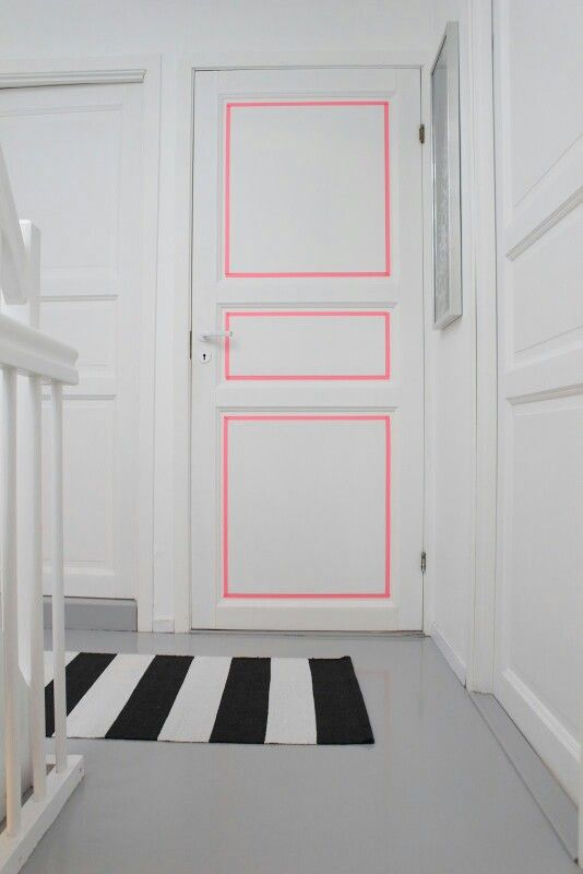 Washi Tape Door by  Remodelaholic