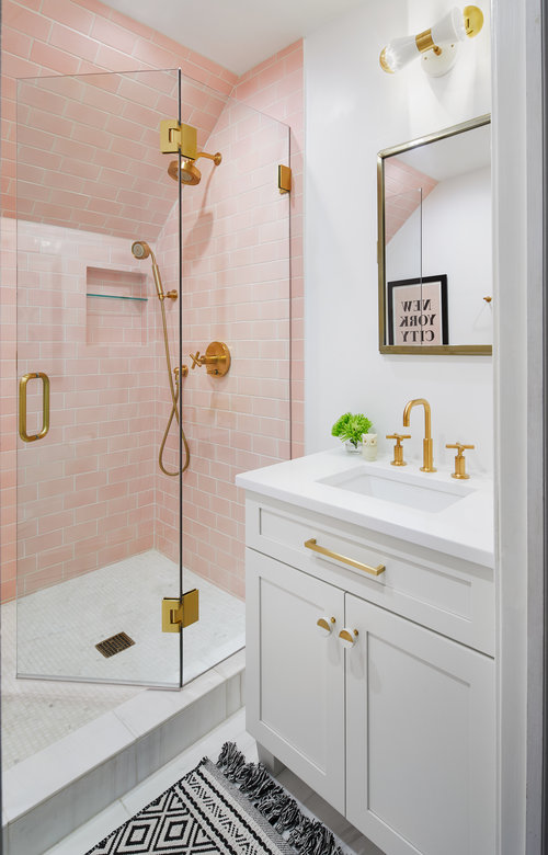 Modern Pink Bathroom on pink bathroom storage, pink and yellow wedding backdrops, pink and yellow photography, pink and yellow duvet, pink and yellow landscaping, pink girls bathroom, pink and yellow porch, pink and yellow decoration, pink and yellow indoors, pink and yellow mood board, pink and yellow spa, pink bedroom ideas for small rooms, pink and yellow towels, pink and yellow classroom, pink and yellow bus, pink bathroom painting, pink and yellow design, pink and yellow house, pink and yellow stationery, pink bathroom ideas,