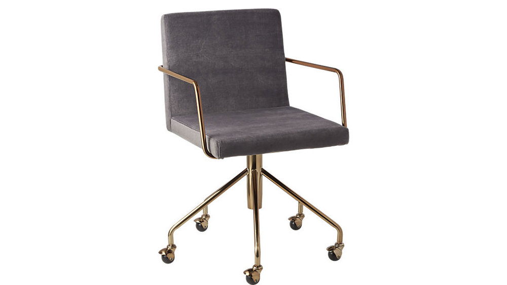 Rouka Velvet Office Chair