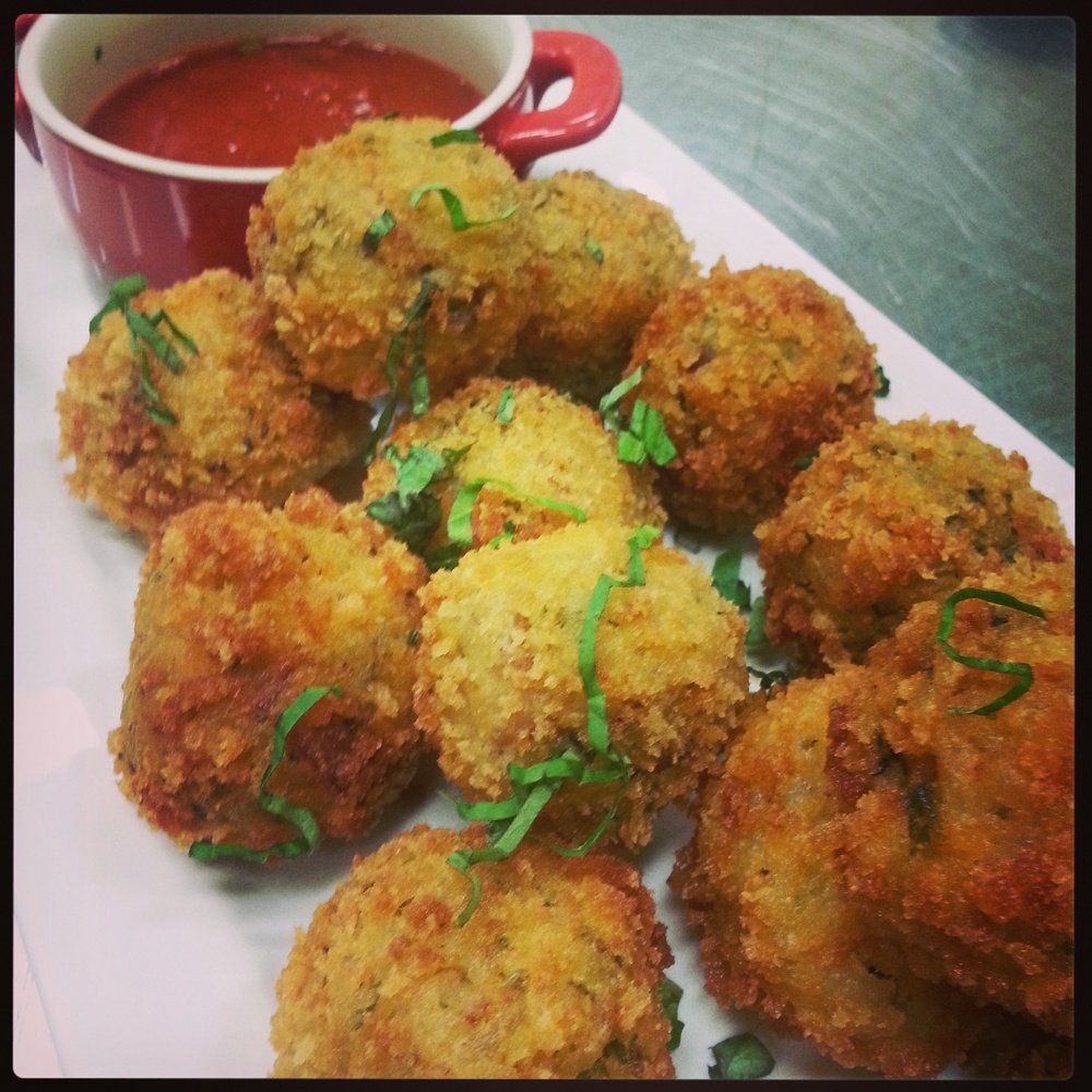 Mushroom Risotto Fritters
