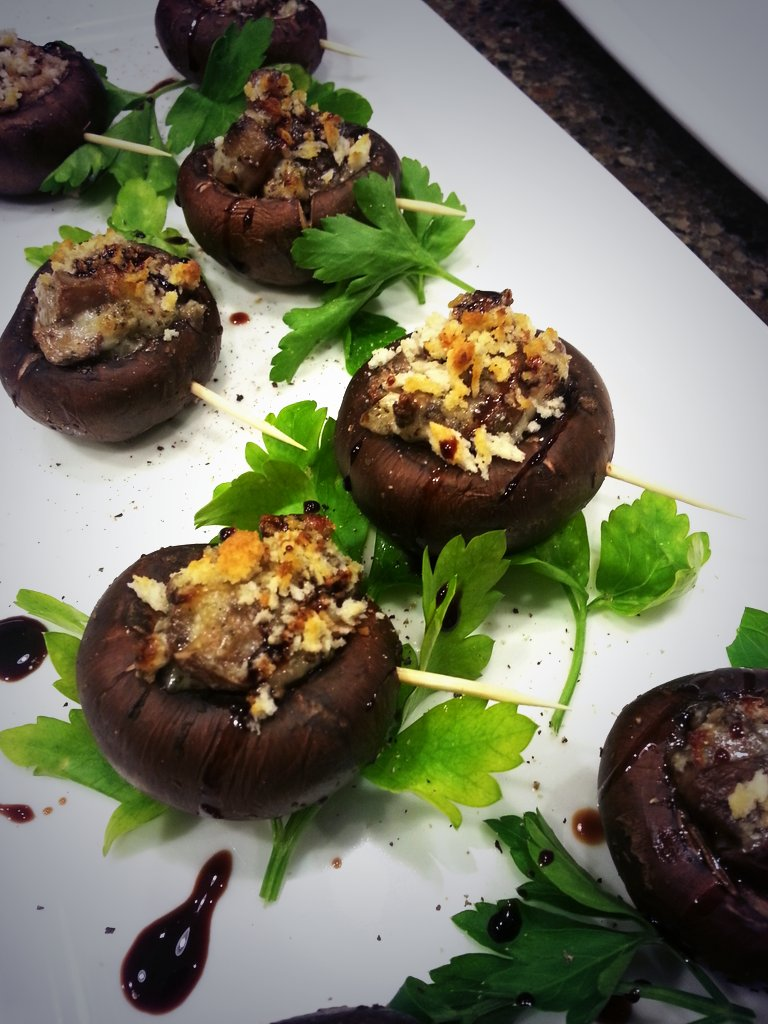 Stuffed Mushroom Caps with Preserved Lemon & Sundried Tomatoes