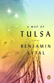 Benjamin Lytal's  A Map of Tulsa  is gorgeous summer boyfriend-girlfriend novel by a smarty-cutey Harvard grad. It's about Tulsa, a city so much like my oil city in Canada that I had to remind myself that his memories of wandering parking lots and empty suburbs and estate parties were all really his. It was just hot enough and romantic enough outside to read straight through. Love.