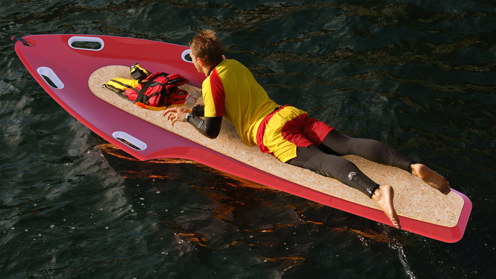 Ray: Ecofriendly Lifeguard Rescue Board