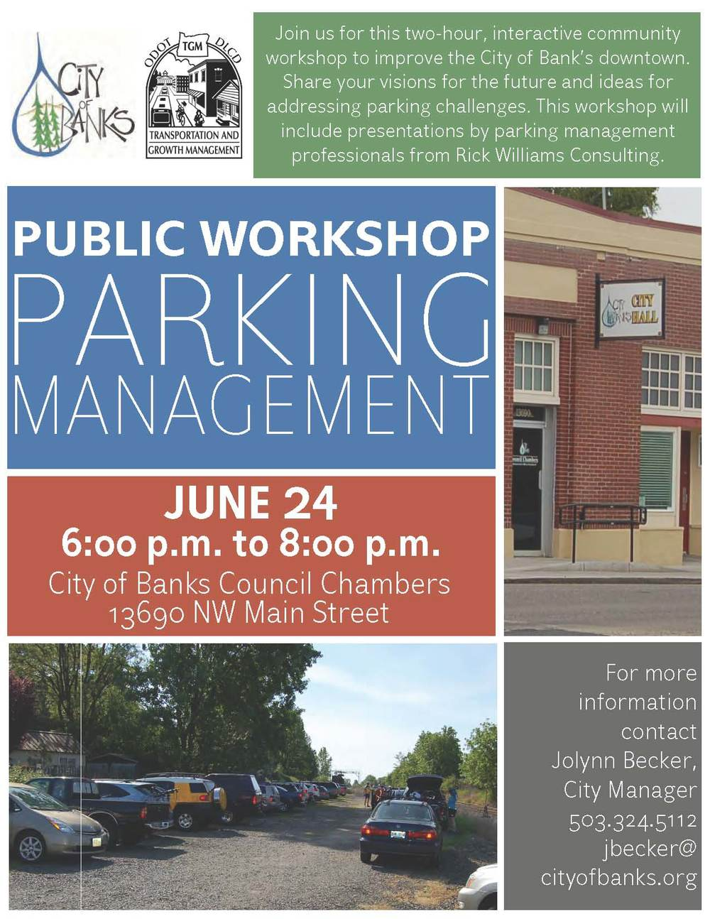 "A successful community process to raise understanding of ""how parking works"" and develop a hands-on framework approach for managing parking in a small city."