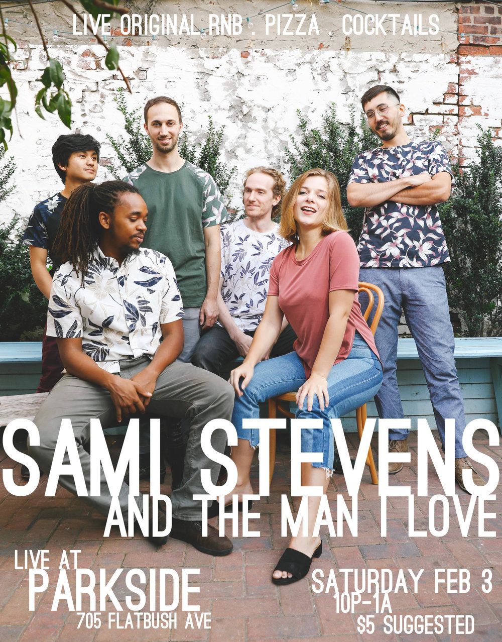 Sami Stevens and The Man I Love, Live at Parkside, 705 Flatbush Avenue. Saturday February 3rd, 10 PM to 1 AM, $5 suggested.
