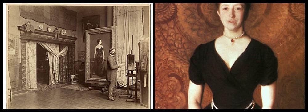 JSS in studio (Left) Isabella Stewart Gardner (Right)