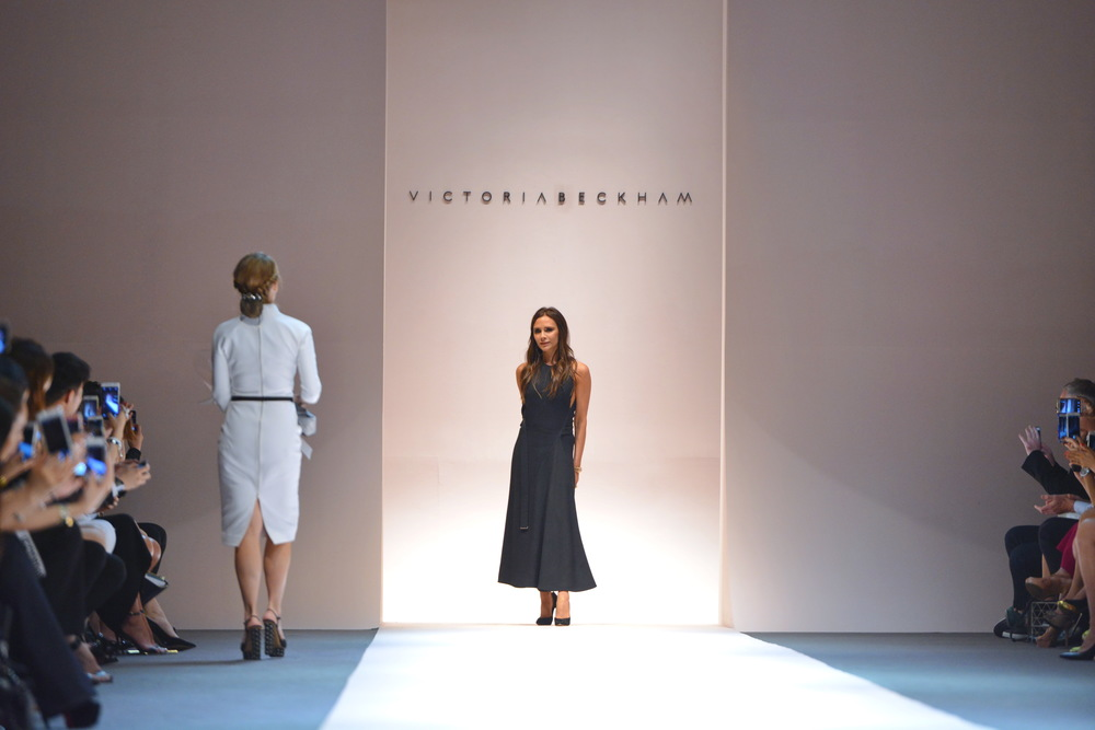 Victoria Beckham closes Singapore Fashion Week with her Fall 2015 collection. (Credit: Adrian Thoo)
