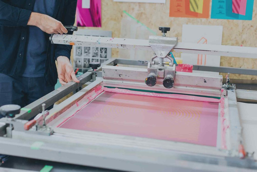 The Private Press is a modern screen printing studio in Brighton, specialising in high quality, hand-pulled screen prints for artists and graphic designers. -