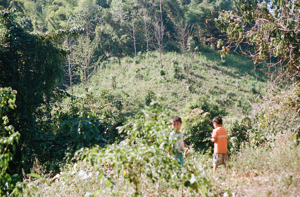 December, 2015: Kids playing in the mountains beyond their village.