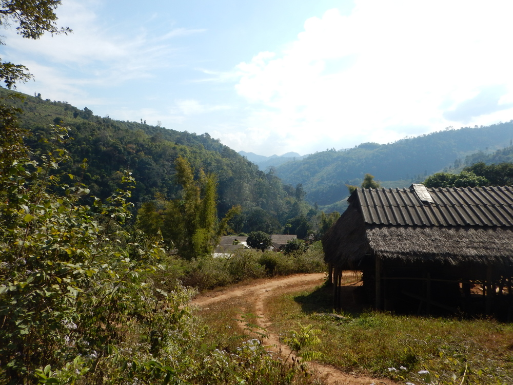 A view of the mountains in which the village is located.