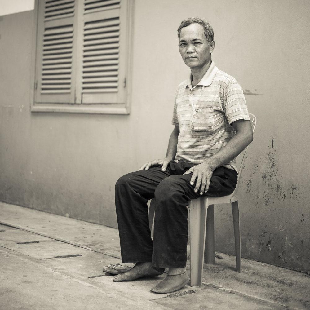 The memories.Lots of memories.They keep coming back as thespokes of a turning wheel.Always the same.As the spokes of a turning wheel.The wheel turns in my head.   U Sam Oeur, Cambodian Poet - Taem Ham,47, Preah Dak,Genocide Survivor