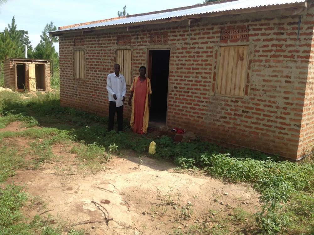 Mwamini became a widow in 2013 when her husband and son were both killed in a motorcycle accident.  She was left to provide for her two surving children and four grandchildren. Unfortunately, they ended up facing eviction from their home and had nowhere to go.  Now, thanks to the generosity of our donors, Mwamini and her family have a home built on their family land!  They have been given a tremendous gift of hope and encouragement from your kindness.