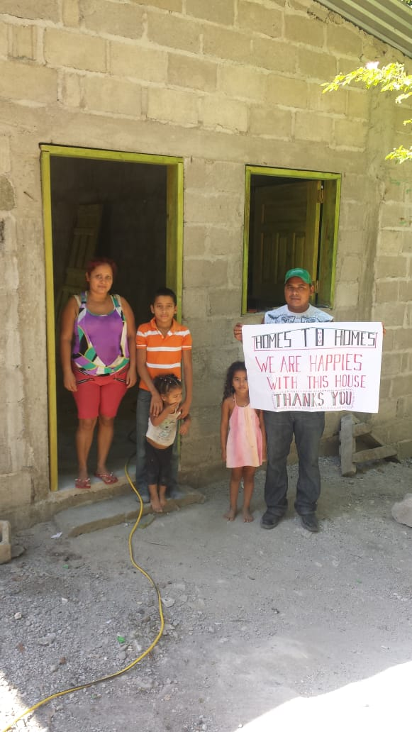 Edwin and Orquidea live in Monterrey, Honduras and they are so excited to have a brand new concrete block home! They have 4 children that attend school in the community, and Edwin is a farmer on the community plantation.  Thank you for supporting Edwin's family by giving this home!