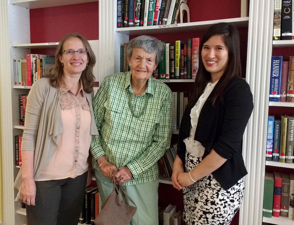 Ali and Vinsula visit Ms. Chris Wood  (center) , author of 3 books with Modern Memoirs