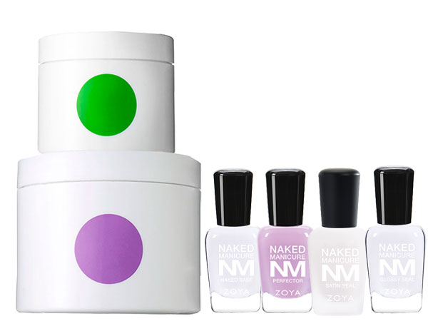 Somme Institute Restore Duo and Zoya Naked Manicure Naked Base, Lavender Perfector, Satin Seal and Glossy Seal.