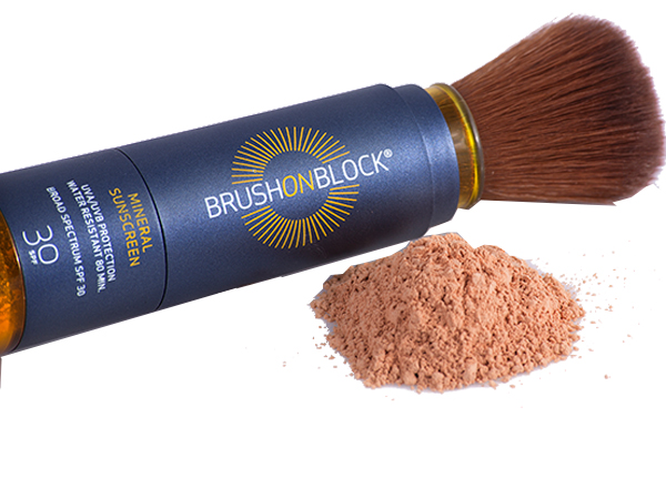 Brush On Block SPF 30 is easy to reapply.