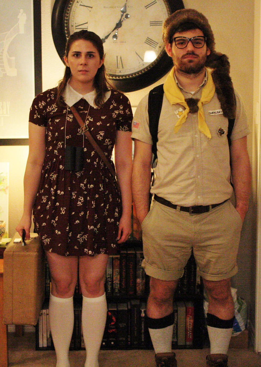 We were Suzy Bishop and Sam Shakusky from Wes Anderson's  Moonrise Kingdom .