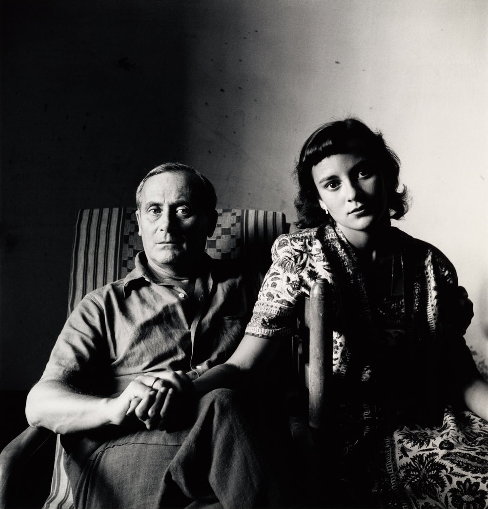 Miró and His Daughter, Dolores, Tarragona, Spain, 1948 by Irving Penn