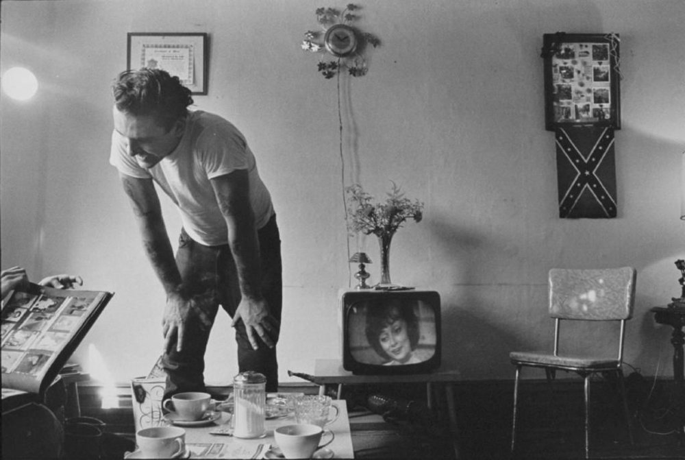 """Corky at home"" from The Bikeriders by © Danny Lyon, ca. 1965-66"