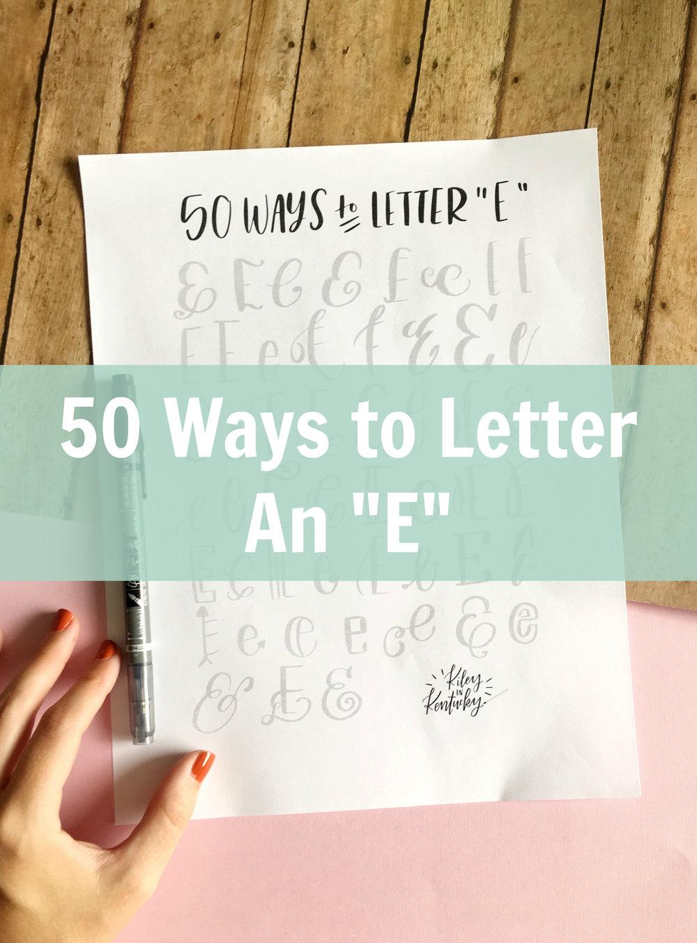 50 Ways To Draw An E
