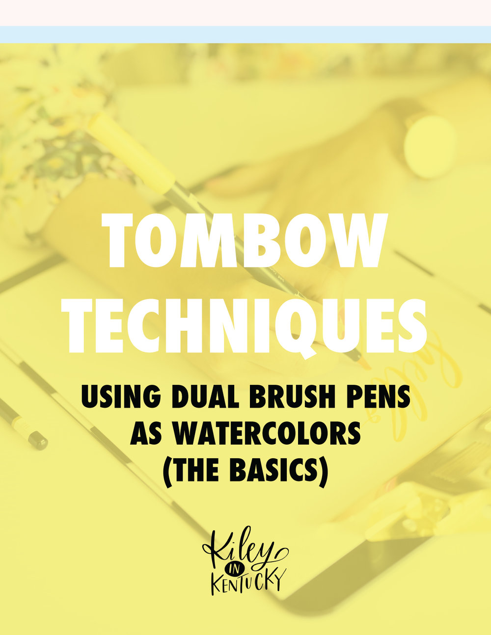 Tombow Dual Brush Pens as Watercolors