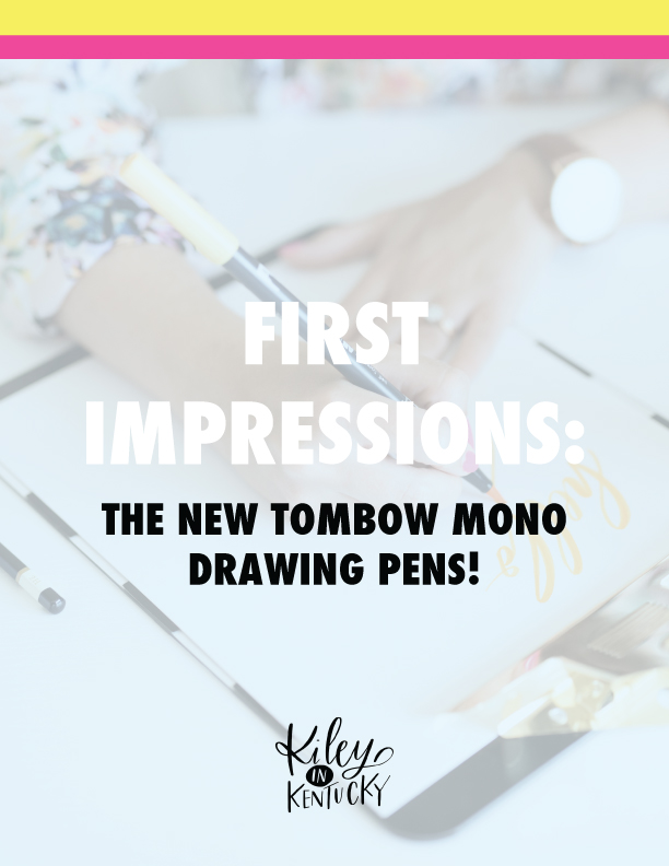 Tombow Mono Drawing Pen Review by Kiley in Kentucky