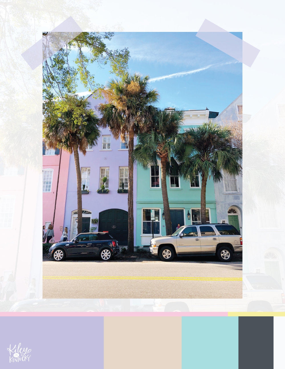 Rainbow row is a must-see for any color lovers out there! These houses are a fashion blogger's dream.