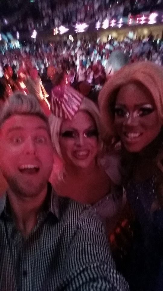 With Lance Bass and Shari Turner at the Gay Games Opening