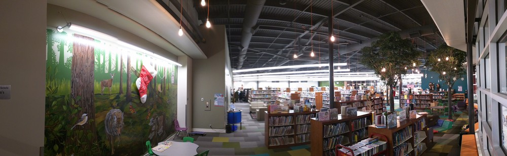 The view from the children's area