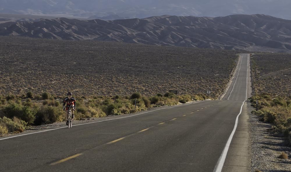 Lone Biker - Death Valley