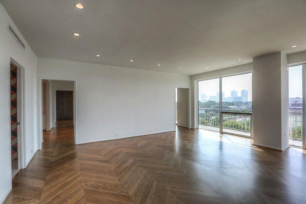 NEW White Oak Chevron Flooring masterfully installed!