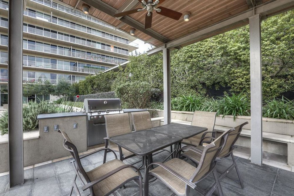 Entertaining and grilling area by the pool.