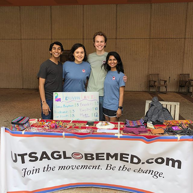 Interested in promoting health equity? Interested in handmade Peruvian crafts? Stop by our table in front of the MH till 1 today to help us fundraise to fight anemia in women and children in Peru! #UTSAGlobeMed #BeTheChange