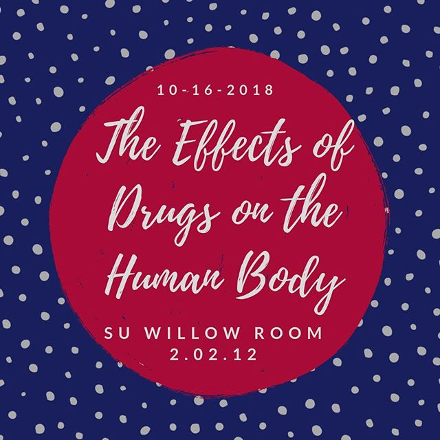 Hey Roadrunners! Join us tomorrow at 7:30 in the SU Willow Room for a discussion and activity over the effects of drugs on the human body! We can't wait to see you all at our meeting tomorrow night!