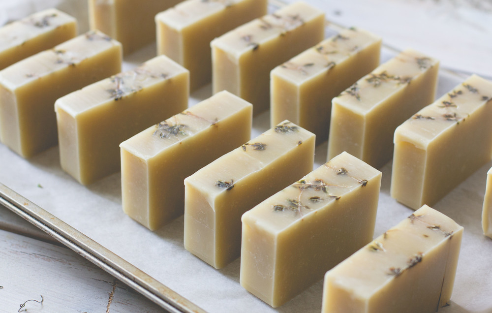 Cocoa Butter Cold Process Soap with Grapefruit + Thyme | Sarah J. Hauser