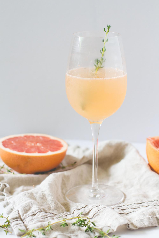 Prosecco + Grapefruit Cocktail | Sarah J. Hauser