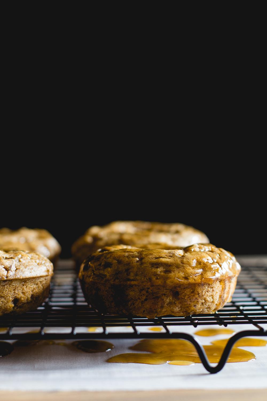 Baked Maple Whiskey Banana Bread Doughnuts