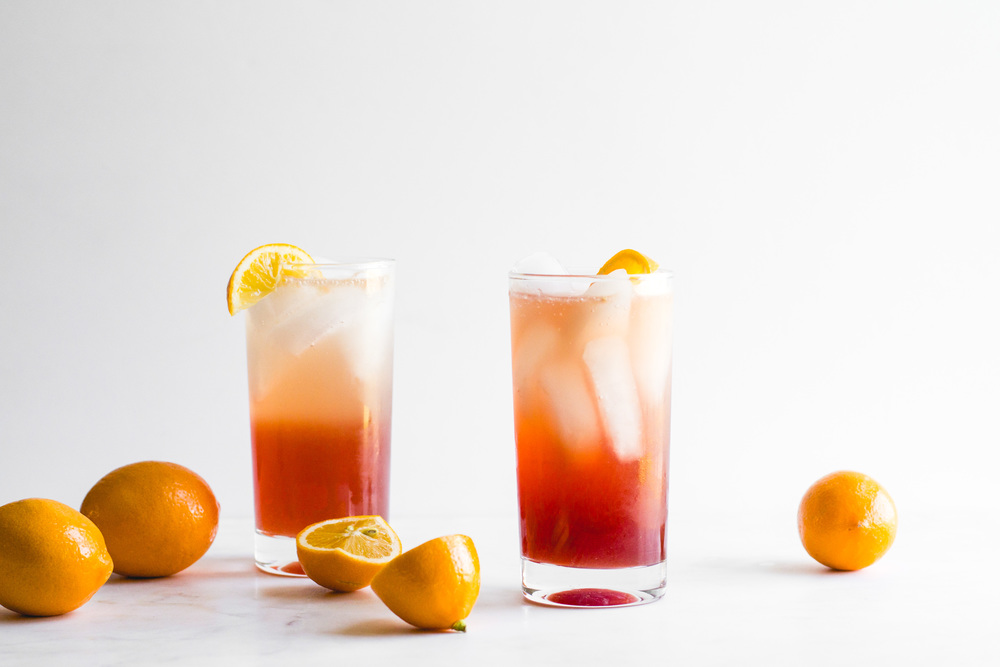 Meyer Lemon + Pomegranate Tom Collins