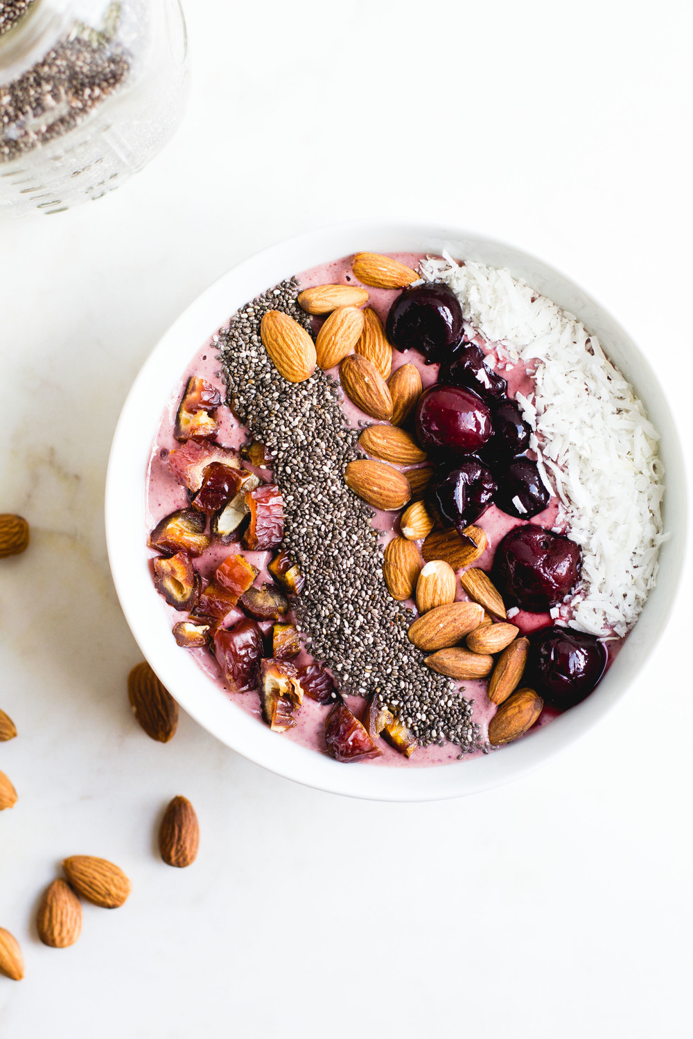 Cherry Almond Smoothie Bowl | Sarah J. Hauser