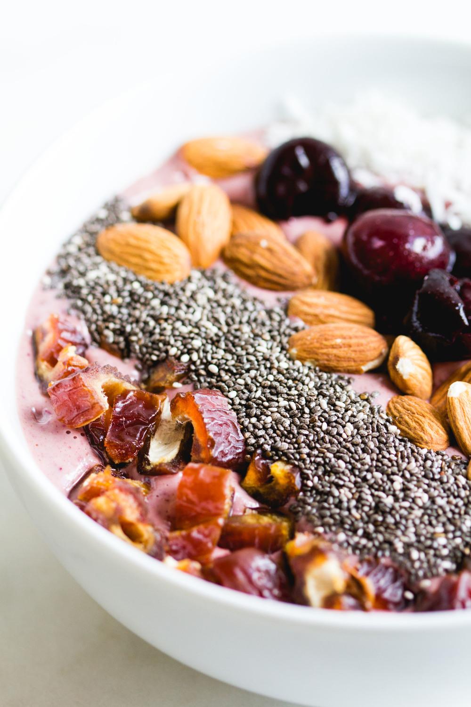 Cherry Almond Smoothie Bowl | Sarah J. Hauser