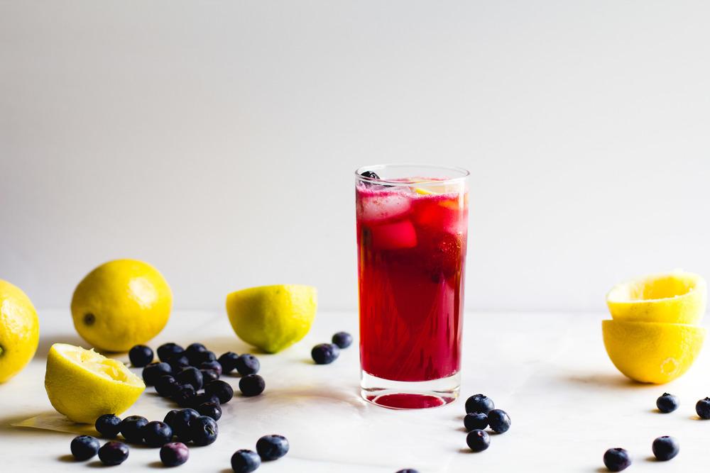Blueberry + Cardamom Sparkling Lemonade
