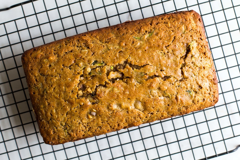 Loaded Whole Wheat + Oat Zucchini Bread