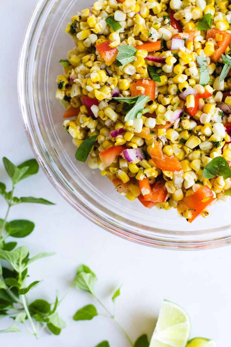 Grilled Corn + Bell Pepper Salad