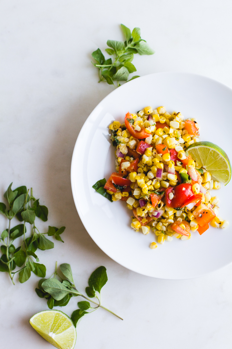 Grilled Corn + Bell Pepper Salad