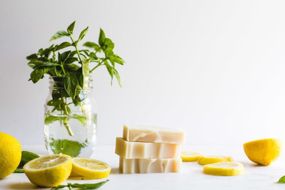 Lemon-Basil Shea Butter Soap