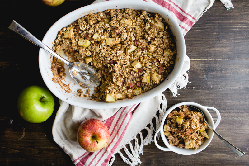 Baked Oatmeal With Apples, Bacon, & Maple Syrup