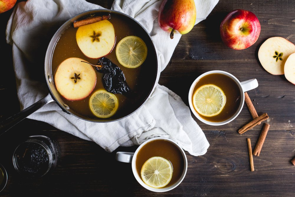 Mulled Cider with Cinnamon + Ancho Chiles