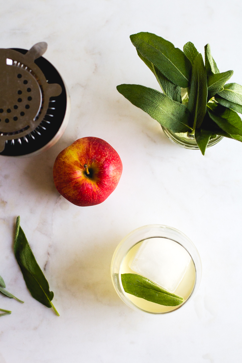 Apple + Sage Cocktail