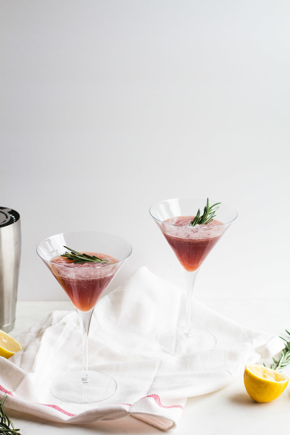 Pomegranate, Cider + Lemon Mocktail